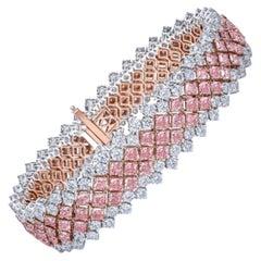 Emilio Jewelry 18.80 Carat Natural Pink Diamond Bracelet
