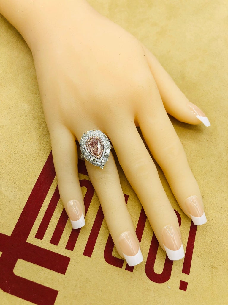 Emilio Jewelry 2.00 Carat Fancy Pink Diamond Ring For Sale 1