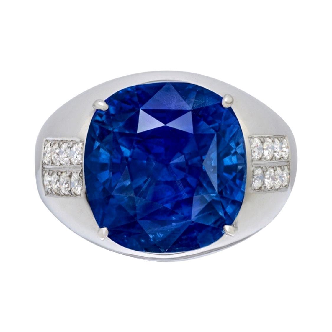 Emilio Jewelry 22 Carat Unheated Ceylon Sapphire Ring