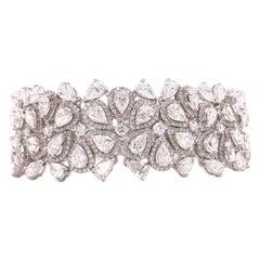 Emilio Jewelry 22.20 Carat Pear Shape Diamond Bracelet