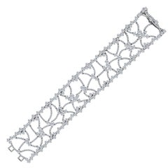 Emilio Jewelry 23.03 Carat Wide Red Carpet Diamond Bracelet