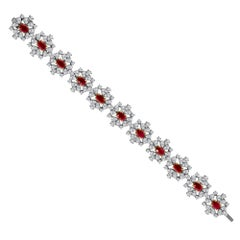 Emilio Jewelry 23.43 Carat Ruby Diamond Bracelet