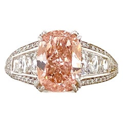 Emilio Jewelry 2.50 Carat Fancy Pink Diamond Ring