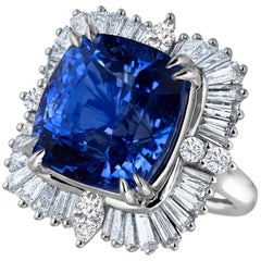 Emilio Jewelry 25.65 Carat Unheated AGL Certified Ceylon Sapphire Diamond Ring