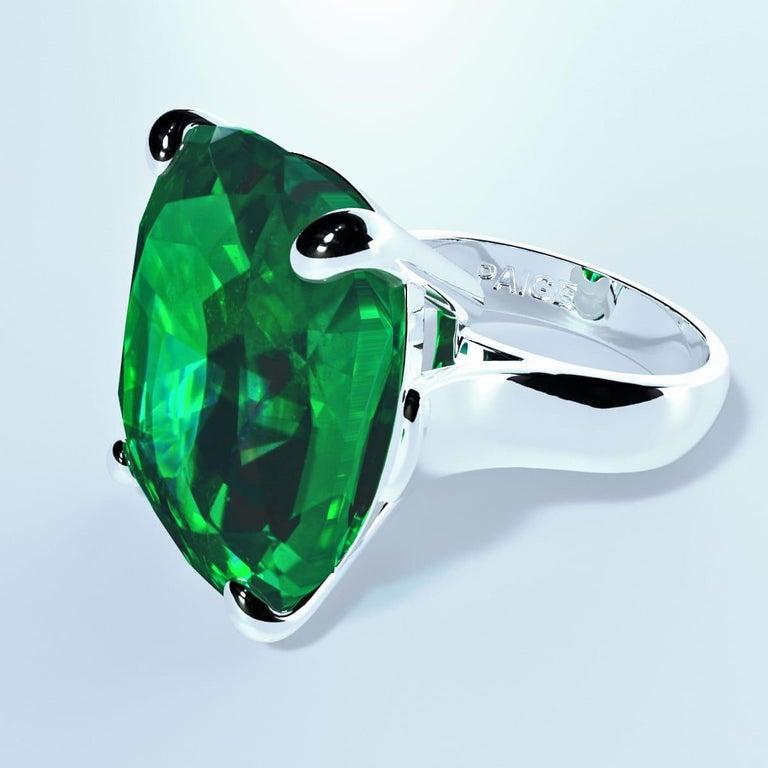 Emilio Jewelry 26.46 Carat Emerald Ring For Sale 6