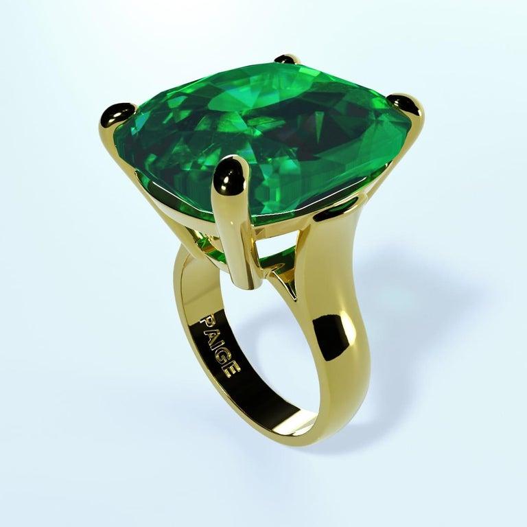 Emilio Jewelry 26.46 Carat Emerald Ring For Sale 8