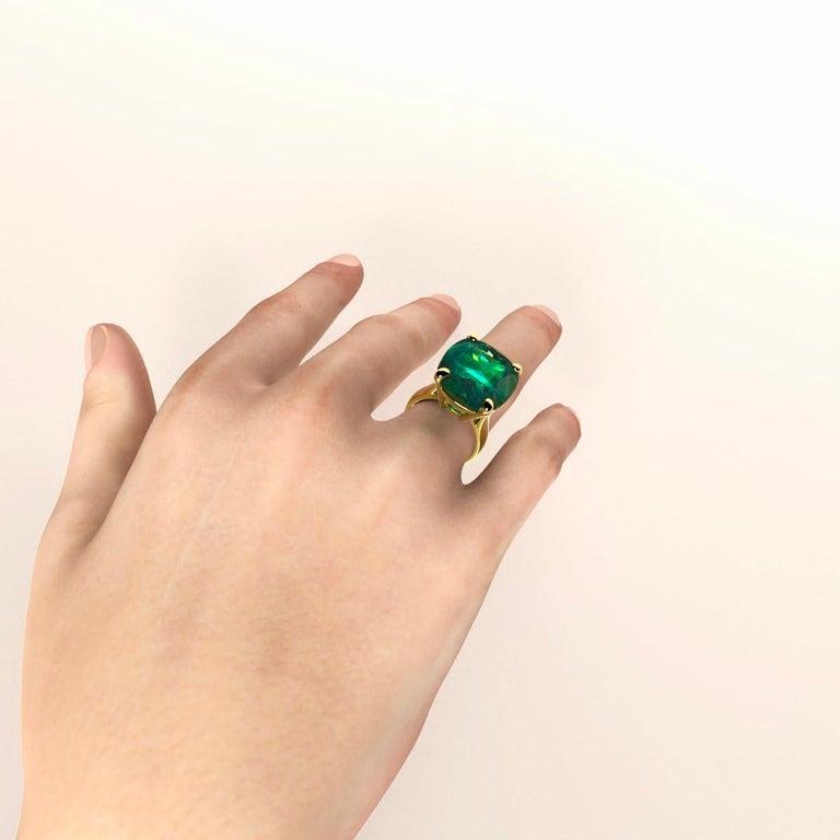 Emilio Jewelry 26.46 Carat Emerald Ring For Sale 9