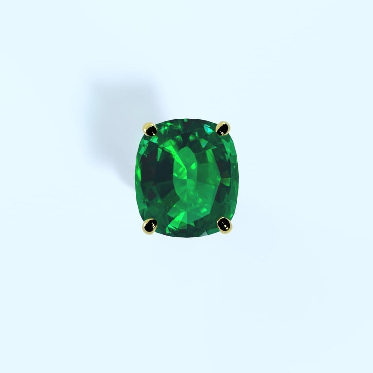 Emilio Jewelry 26.46 Carat Emerald Ring For Sale 10