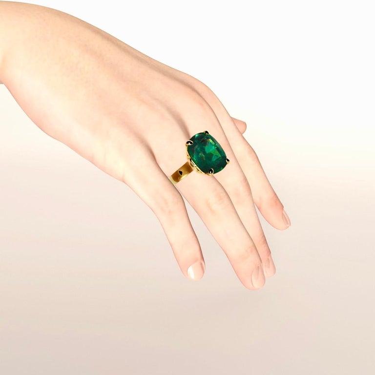Emilio Jewelry 26.46 Carat Emerald Ring For Sale 11