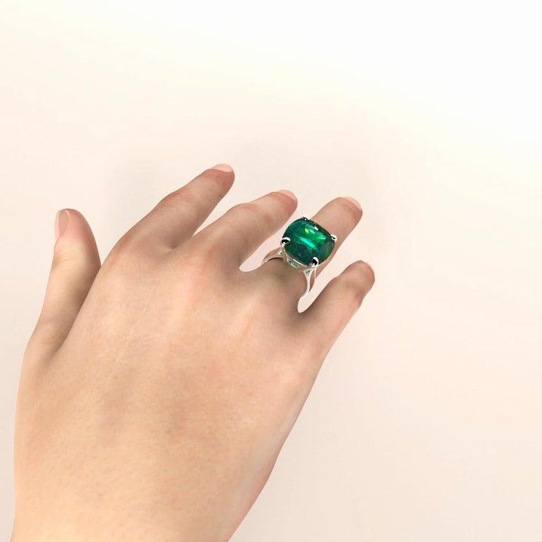 Emilio Jewelry 26.46 Carat Emerald Ring For Sale 12