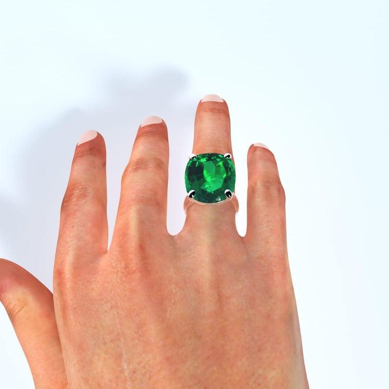 Emilio Jewelry 26.46 Carat Emerald Ring For Sale 1