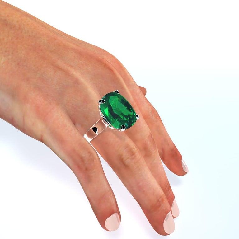 Emilio Jewelry 26.46 Carat Emerald Ring For Sale 3