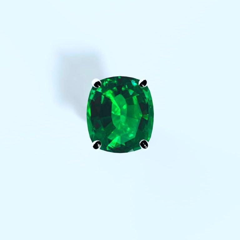 Emilio Jewelry 26.46 Carat Emerald Ring For Sale 5