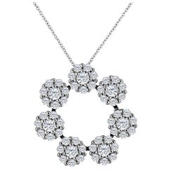 Emilio Jewelry 2.66 Carat Diamond Necklace