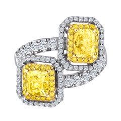 Emilio Jewelry 2.82 Carat GIA Certified Fancy Diamond Ring