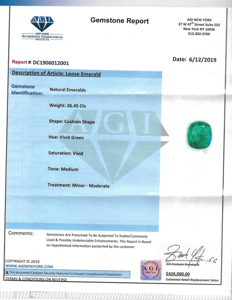 Emilio Jewelry 28.80 Carat Emerald Diamond Ring In New Condition For Sale In New York, NY
