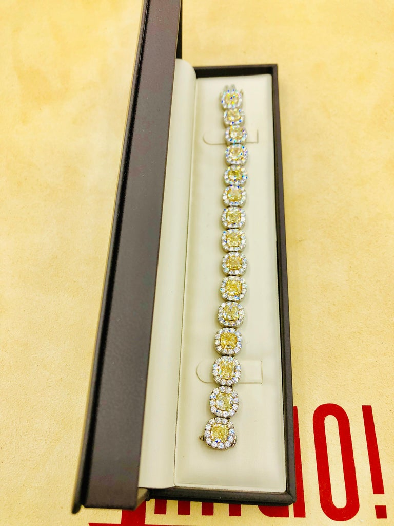 Emilio Jewelry 32.78 Carat Yellow Diamond Bracelet 10