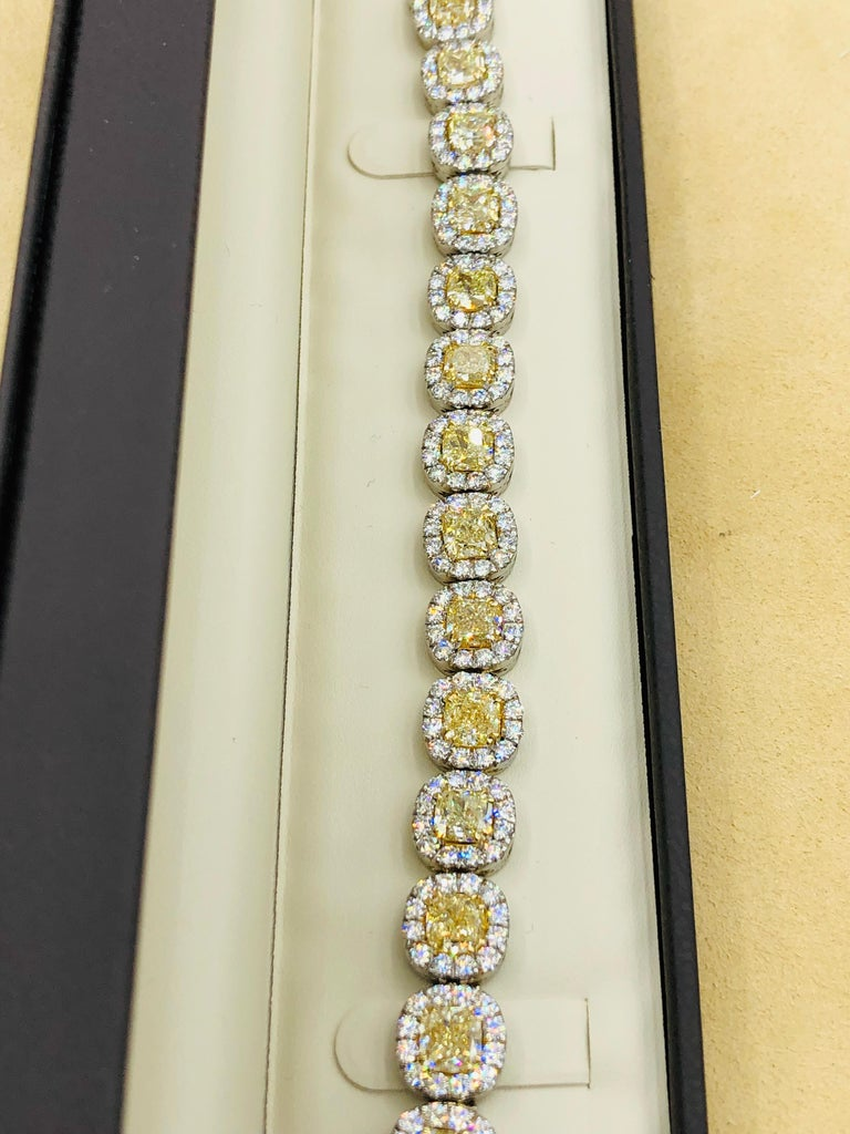 Emilio Jewelry 32.78 Carat Yellow Diamond Bracelet 11