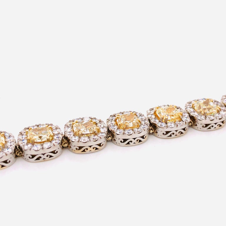 Emilio Jewelry 32.78 Carat Yellow Diamond Bracelet 12