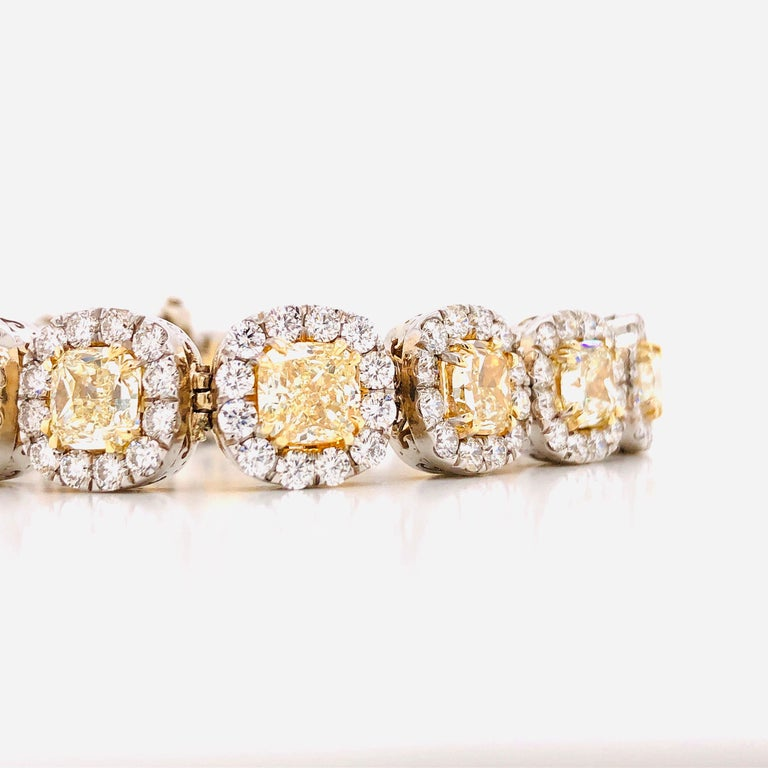 Women's or Men's Emilio Jewelry 32.78 Carat Yellow Diamond Bracelet