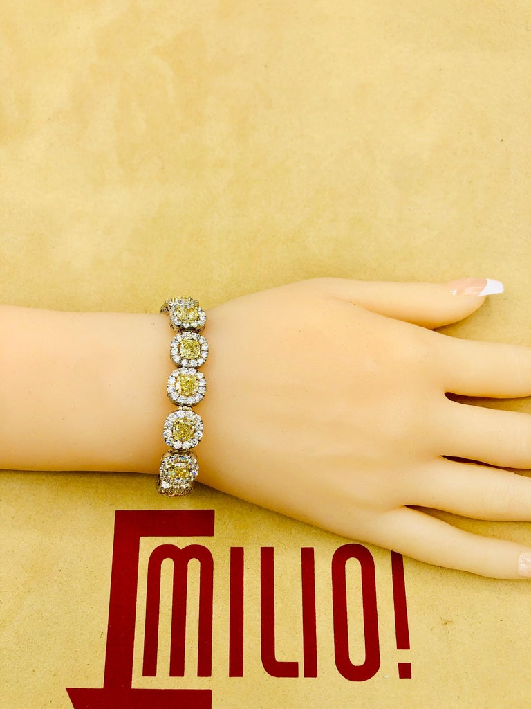 Emilio Jewelry 32.78 Carat Yellow Diamond Bracelet 1