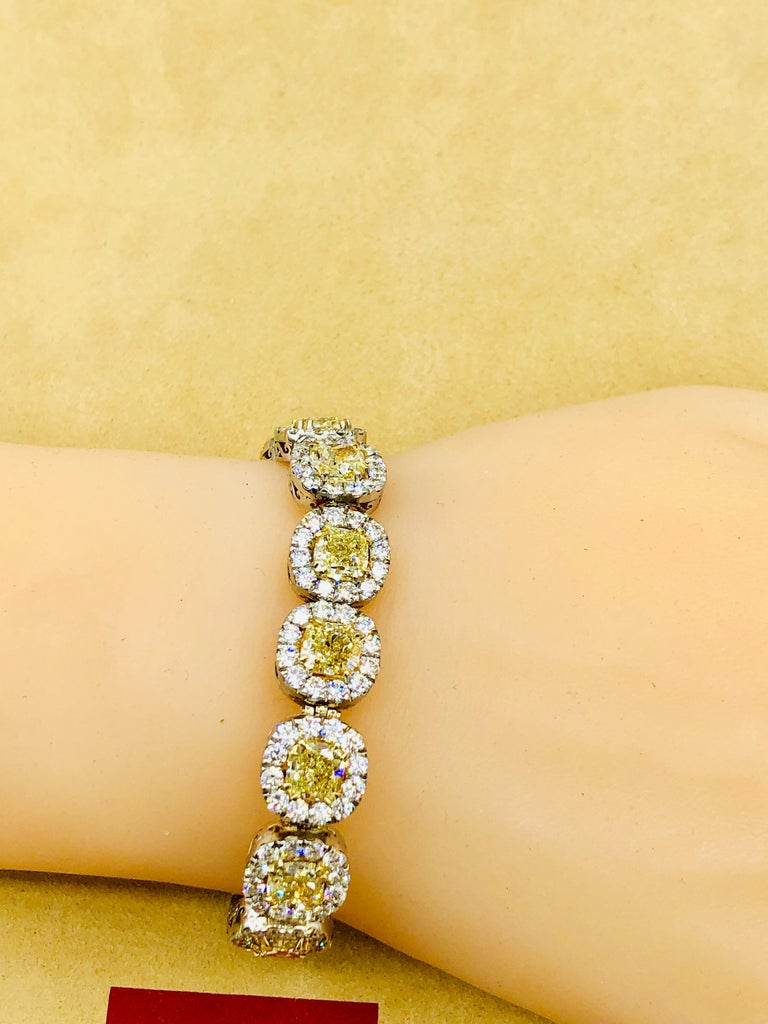 Emilio Jewelry 32.78 Carat Yellow Diamond Bracelet 2