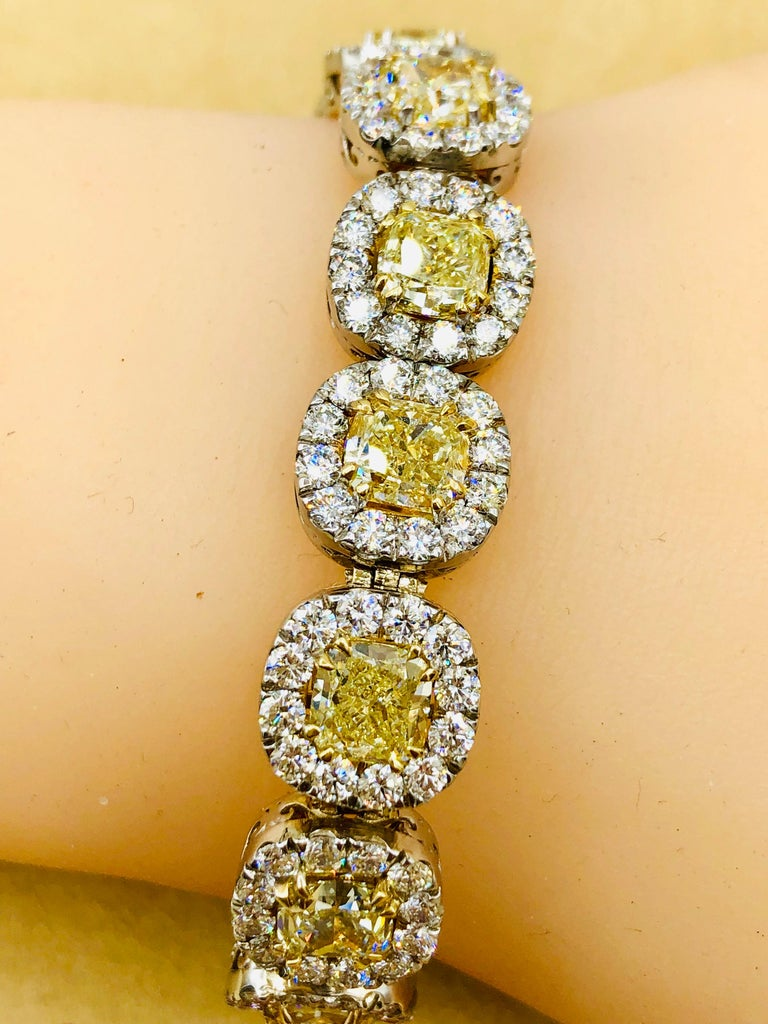Emilio Jewelry 32.78 Carat Yellow Diamond Bracelet 3