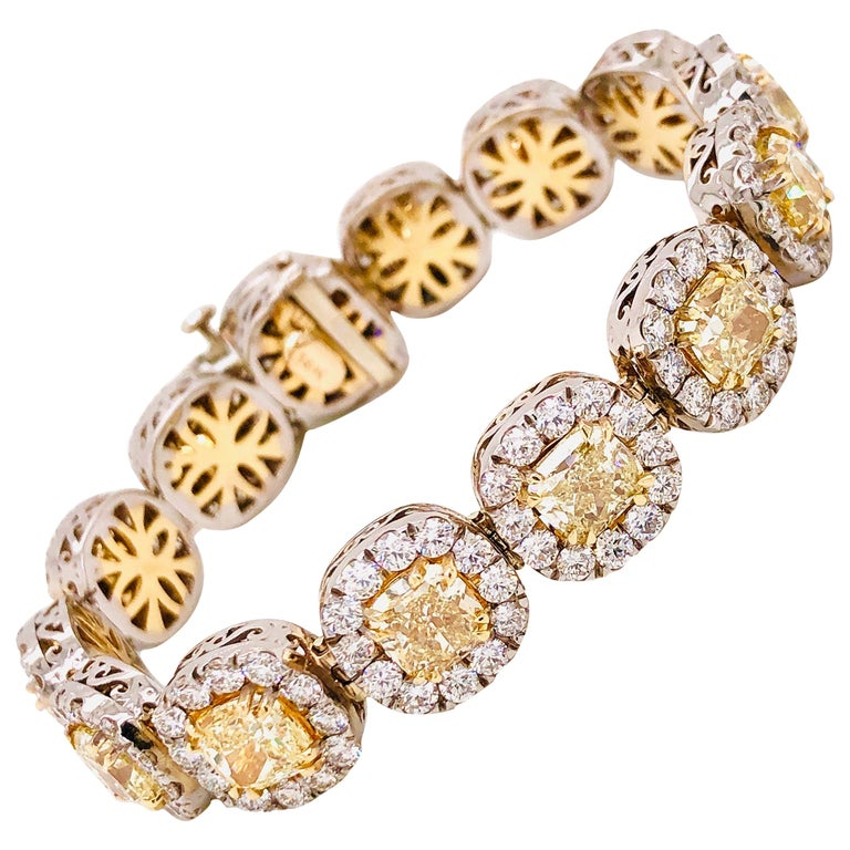Emilio Jewelry 32.78 Carat Yellow Diamond Bracelet