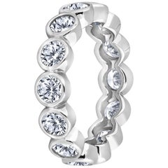 Emilio Jewelry 3.50 Carat Eternity Band Platinum