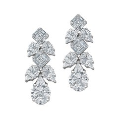 Emilio Jewelry 3.73 Carat Diamond Drop Earrings