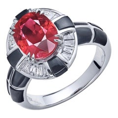 Emilio Jewelry 4.00 Carat Unheated Pigeons Blood Vivid Red Ruby Ring