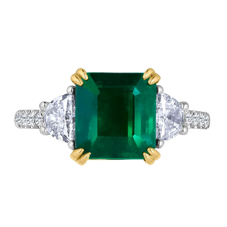 Emilio Jewelry 4 23 Carat Genuine Certified Emerald