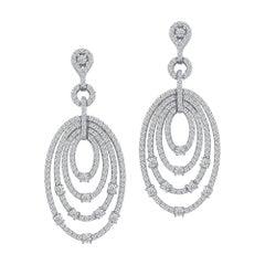Emilio Jewelry 4.75 Carat Diamond Earrings