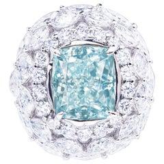 Emilio Jewelry 5.00 Carat GIA Certified Natural Fancy Blue Diamond