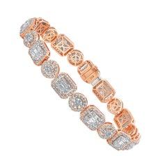 Emilio Jewelry 5.44 Carat Fancy Diamond Bracelet