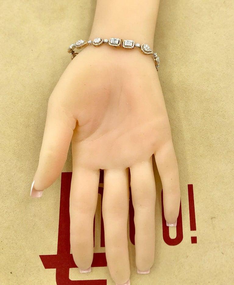 Emilio Jewelry 5.92 Carat Fancy Diamond Bracelet For Sale 6
