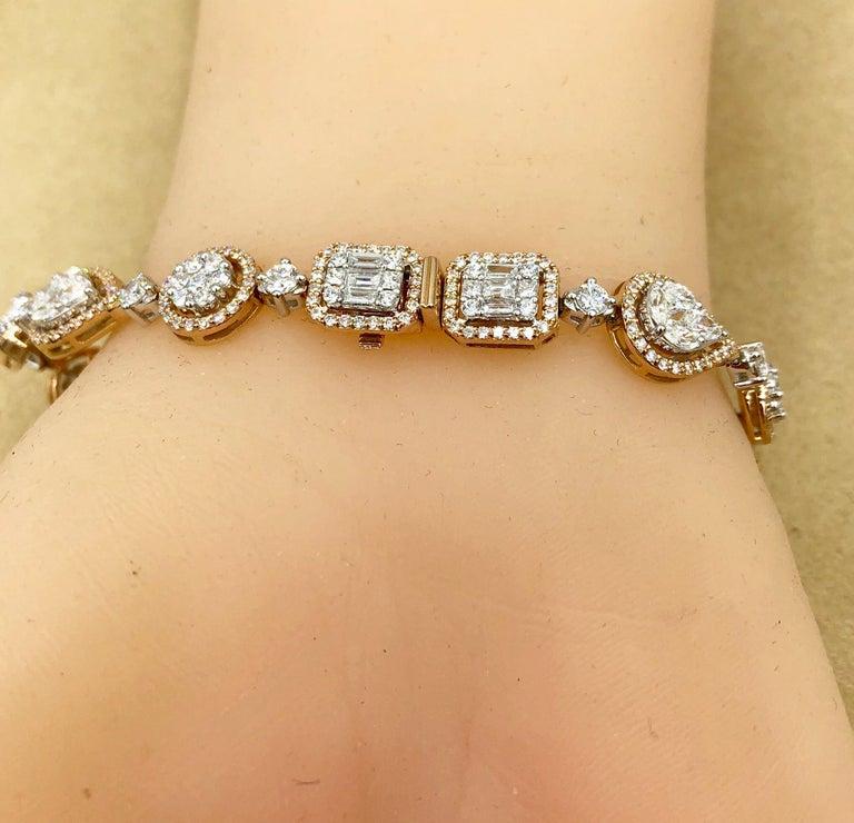Emilio Jewelry 5.92 Carat Fancy Diamond Bracelet For Sale 7