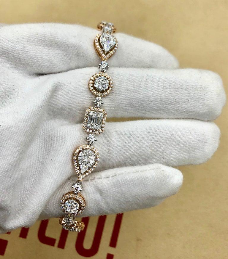 Emilio Jewelry 5.92 Carat Fancy Diamond Bracelet For Sale 9