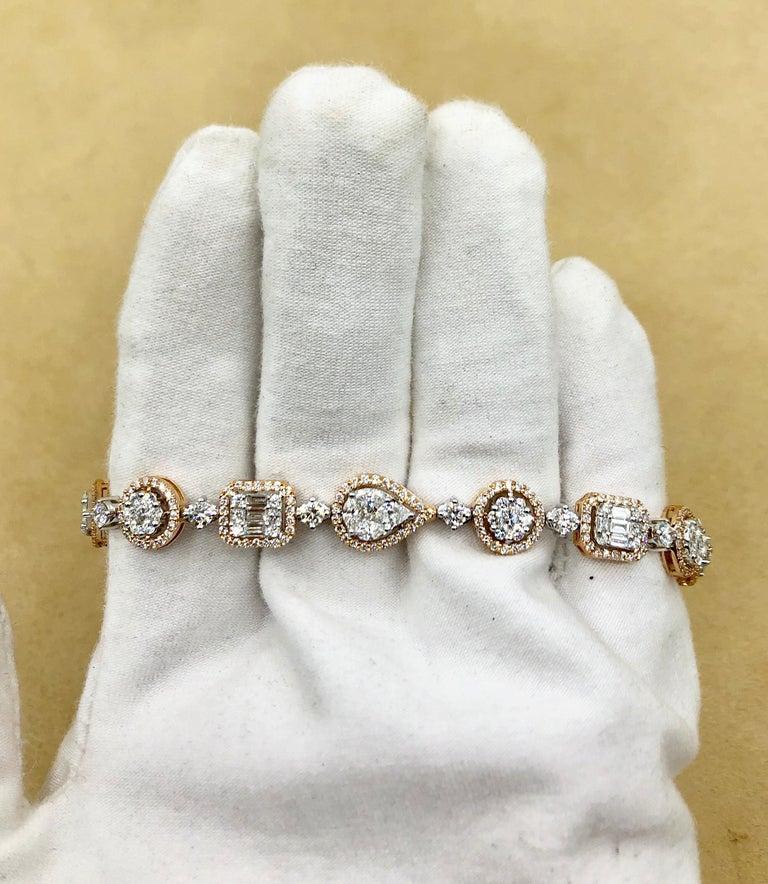 Emilio Jewelry 5.92 Carat Fancy Diamond Bracelet For Sale 10