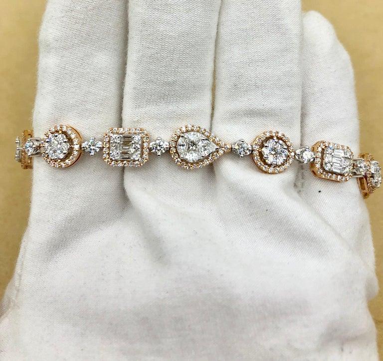 Emilio Jewelry 5.92 Carat Fancy Diamond Bracelet For Sale 11