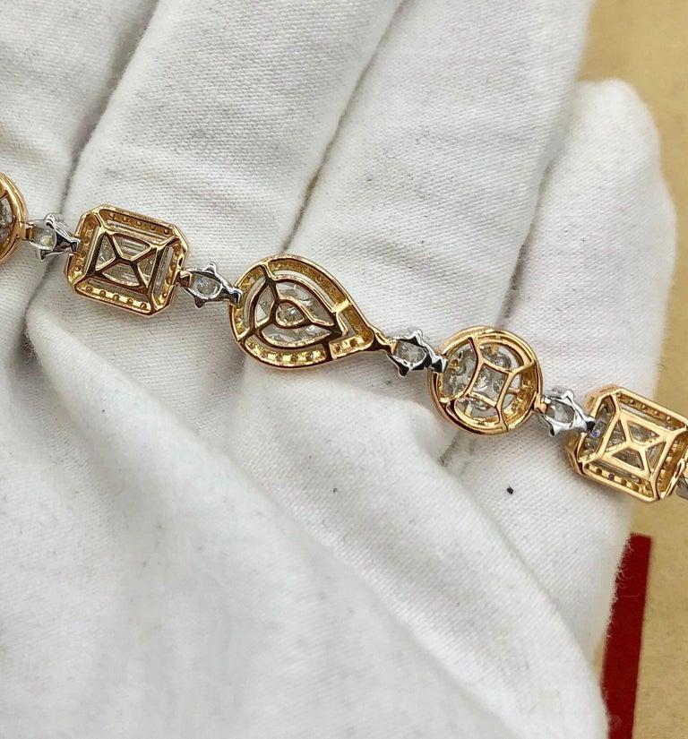 Emilio Jewelry 5.92 Carat Fancy Diamond Bracelet For Sale 12