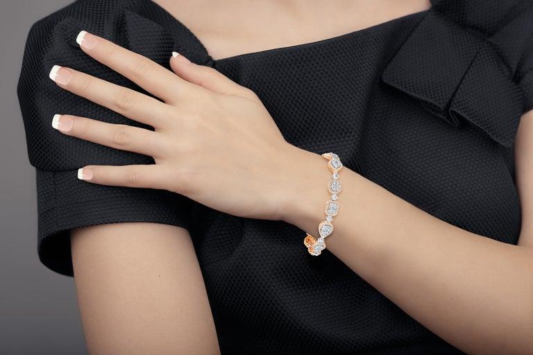 Emilio Jewelry 5.92 Carat Fancy Diamond Bracelet For Sale 14