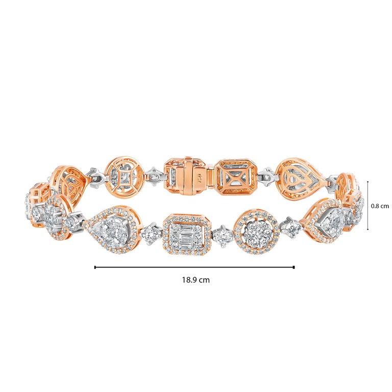Emilio Jewelry 5.92 Carat Fancy Diamond Bracelet For Sale 15