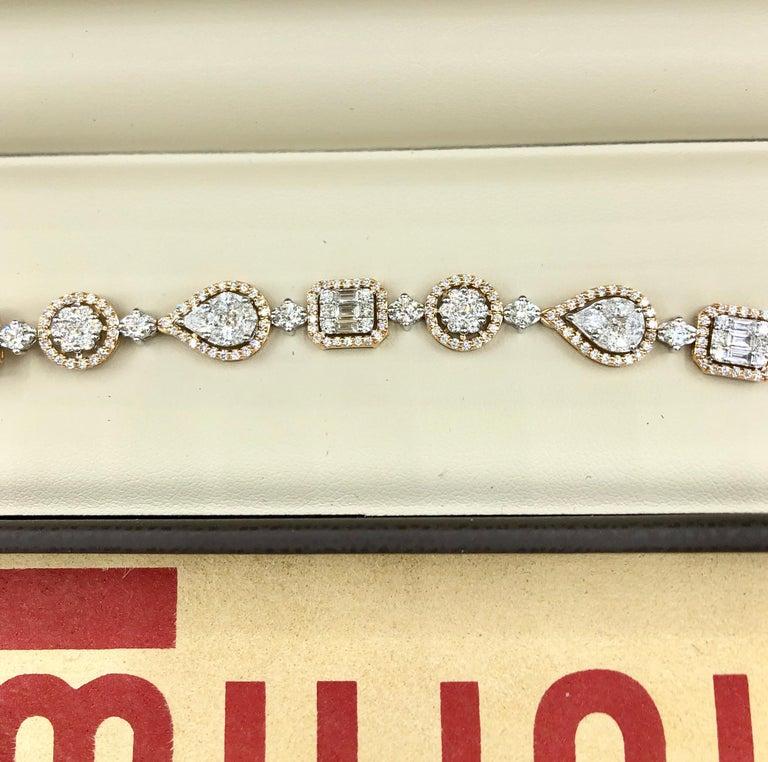 Emilio Jewelry 5.92 Carat Fancy Diamond Bracelet In New Condition For Sale In New York, NY