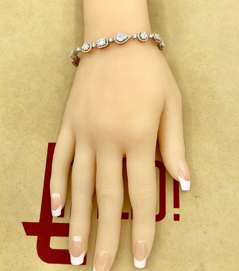 Emilio Jewelry 5.92 Carat Fancy Diamond Bracelet For Sale 2