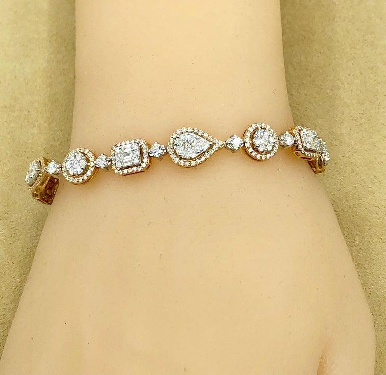 Emilio Jewelry 5.92 Carat Fancy Diamond Bracelet For Sale 3