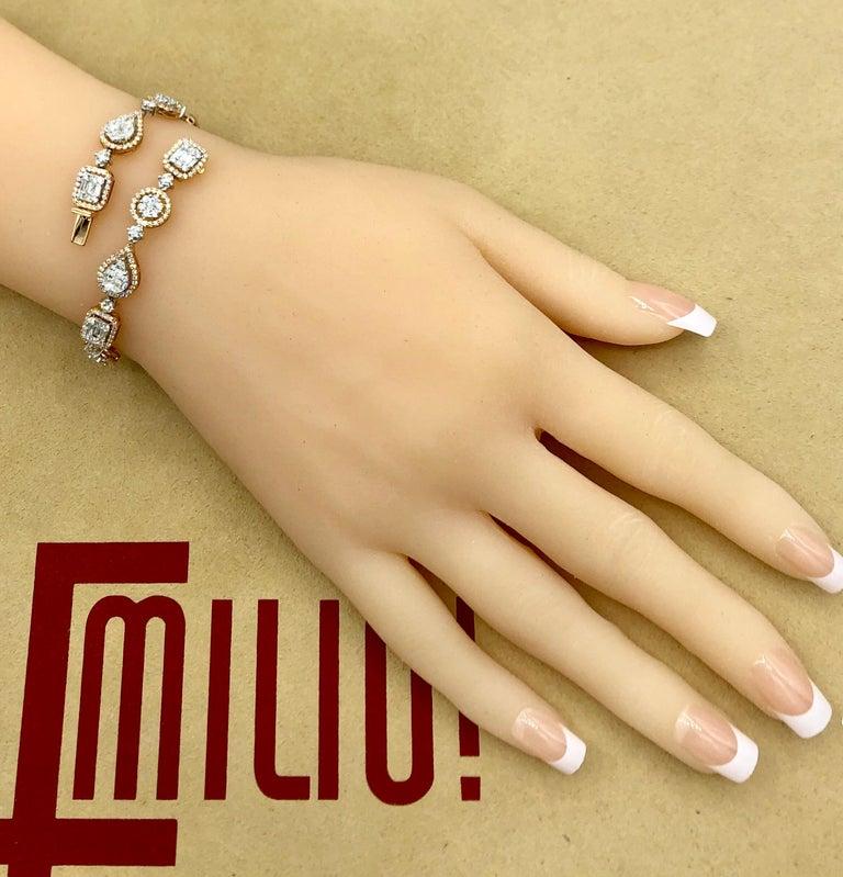 Emilio Jewelry 5.92 Carat Fancy Diamond Bracelet For Sale 4
