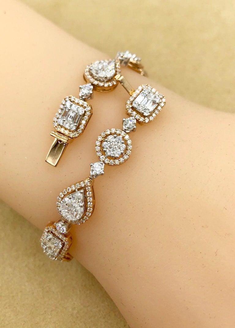 Emilio Jewelry 5.92 Carat Fancy Diamond Bracelet For Sale 5