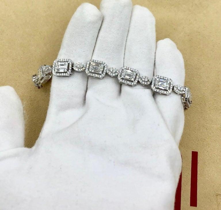 Emilio Jewelry 6.07 Carat Fancy Diamond Bracelet For Sale 6