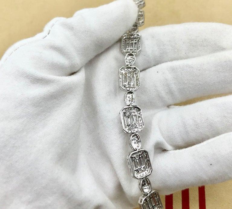 Emilio Jewelry 6.07 Carat Fancy Diamond Bracelet For Sale 7
